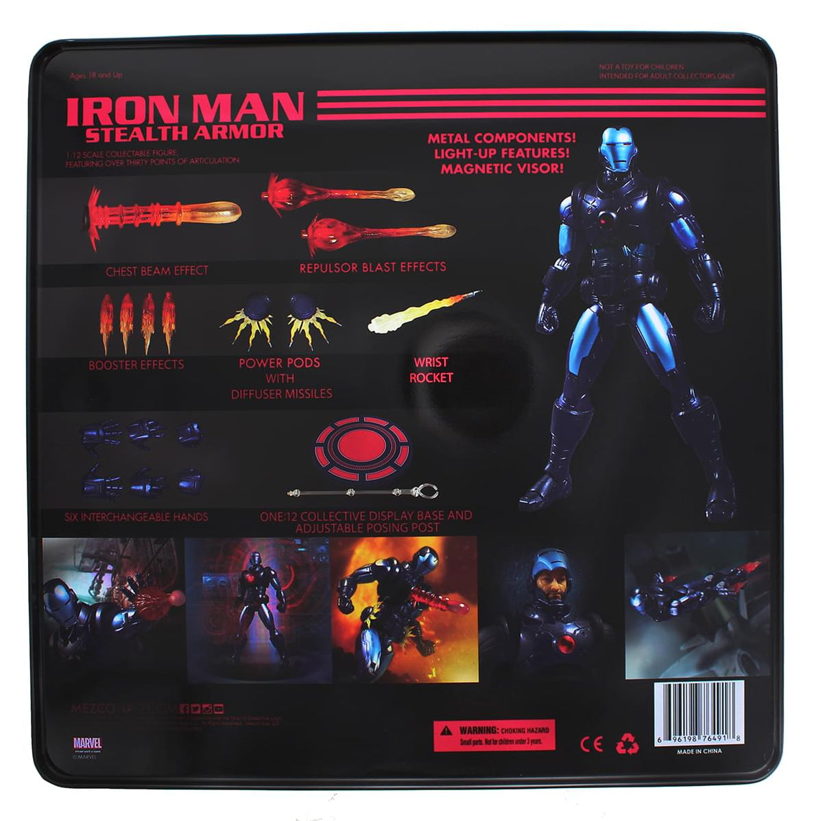 Marvel One 12 Collective Iron Man Stealth Armor Action Figure