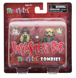 Pack de 2 Diamond Select Toys Jay et SILENT BOB ZOMBIE minimates Action Figure