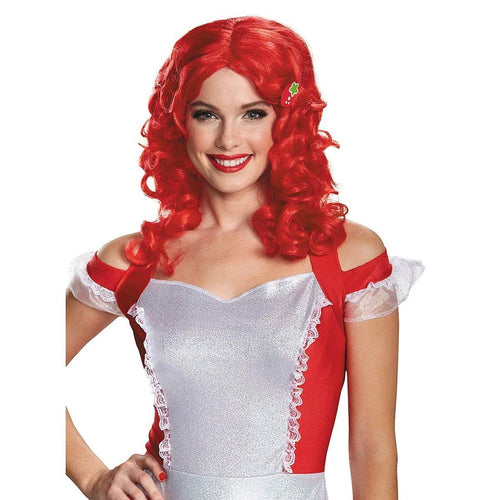 Stawberry Shortcake Deluxe Adult Costume Wig One Size