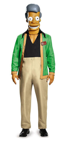 The Simpsons Apu - Kwik E Mart Deluxe Adult Costume