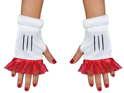 Red Minnie Adult Costume Glovettes