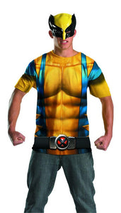 Marvel Wolverine T-Shirt & Mask Costume Kit Adult
