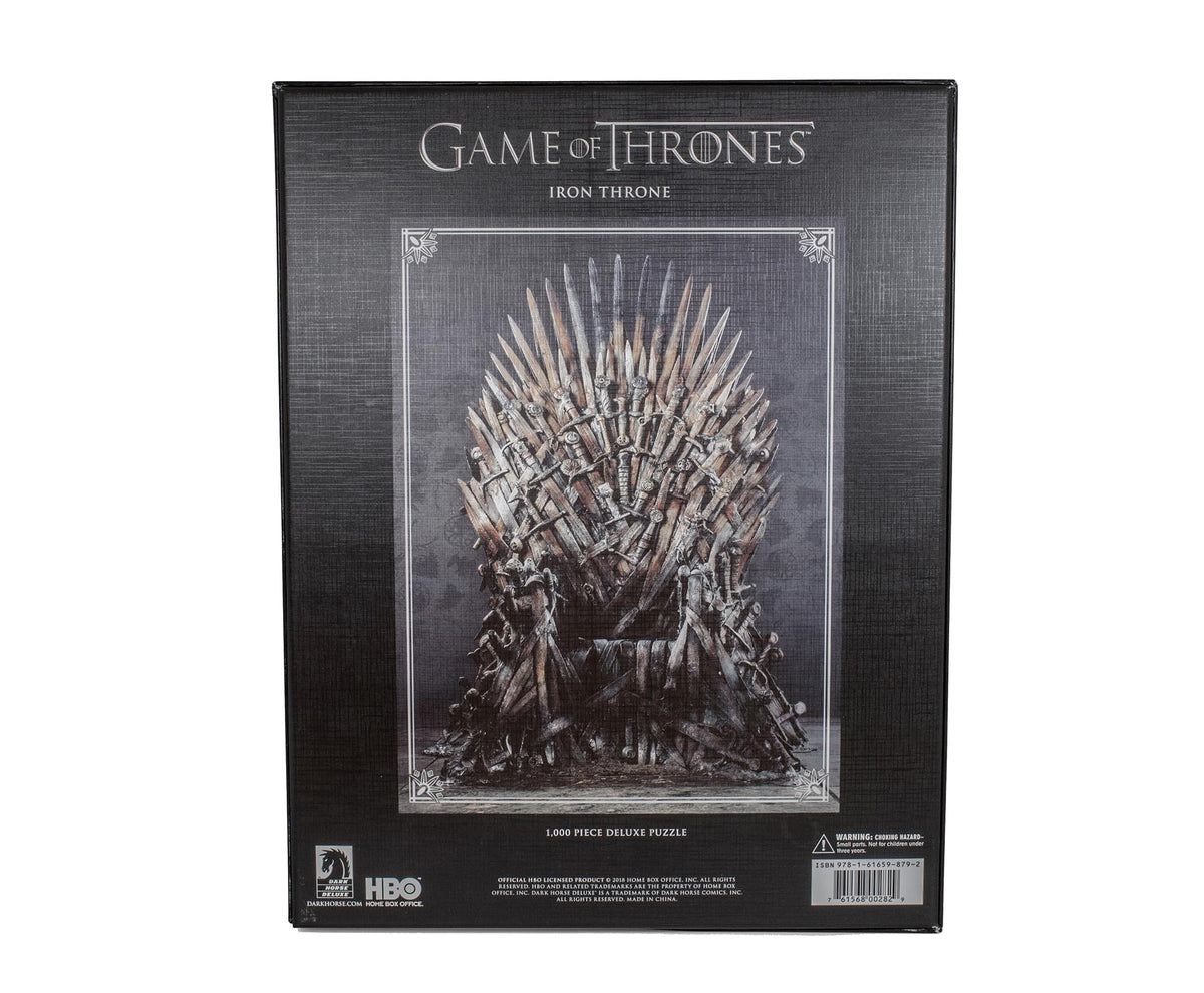 Game Of Thrones Puzzle The Iron Throne 1000 Piece Jigsaw Puzzle | Ages 15 & Up