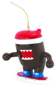 Domo Holiday Ornament: Snowboarding Domo