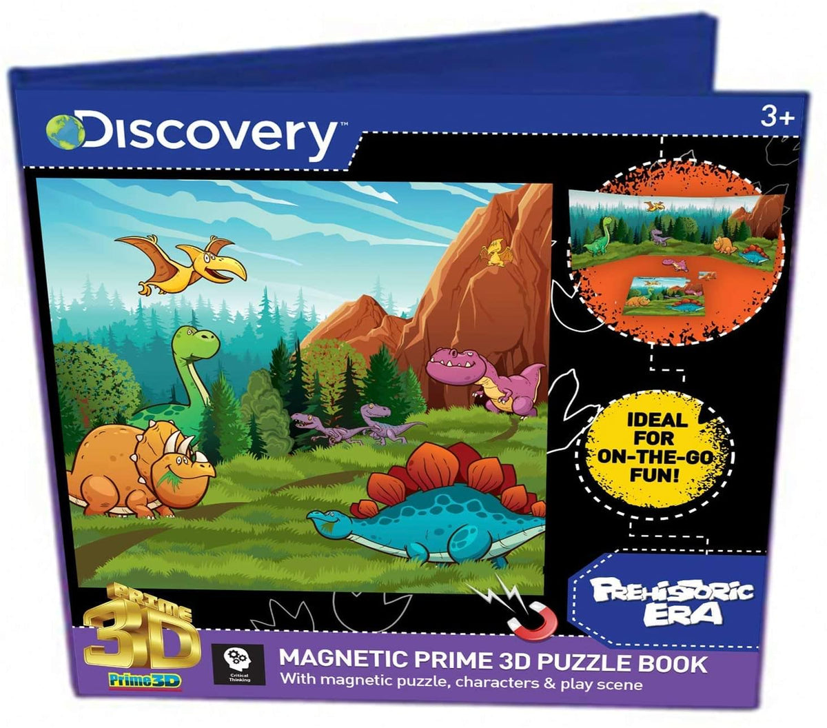 Discovery Dinosaurs Magnetic Super 3D Puzzle Book