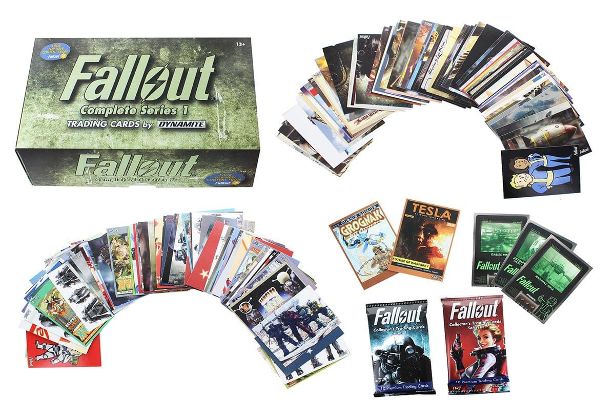 Fallout Trading Cards Series 1 - Complete Base Set w/ Bonus Cards & Packs