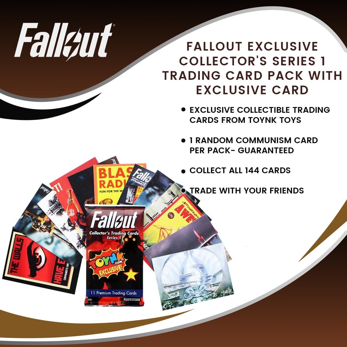 Fallout Exclusive Collector's Series 1 Trading Card Pack with Exclusive Card