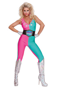 Wrestling Champ Adult Women's Costume | Large