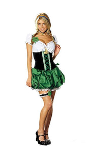 Sexy Maid St. Patricks Day Good Luck Charm Costume Adult