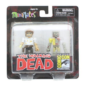 The Walking Dead Exclusive Minimates 2 Pack - Rick Grimes & Walker