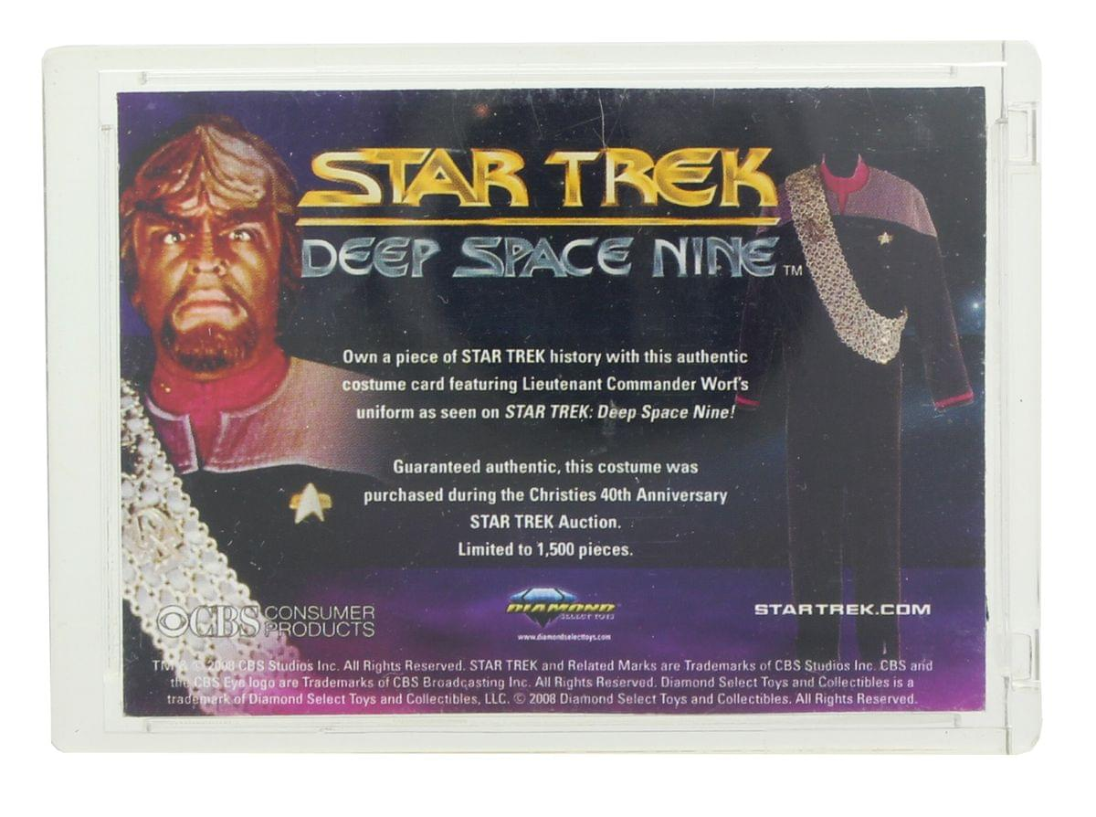 Diamond Select Star Trek Deep Space 9 Worf Uniform 1 of 1500 Trading Card
