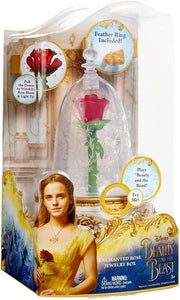 Disney Beauty and the Beast Lights & Sound Enchanted Rose Jewelry Box