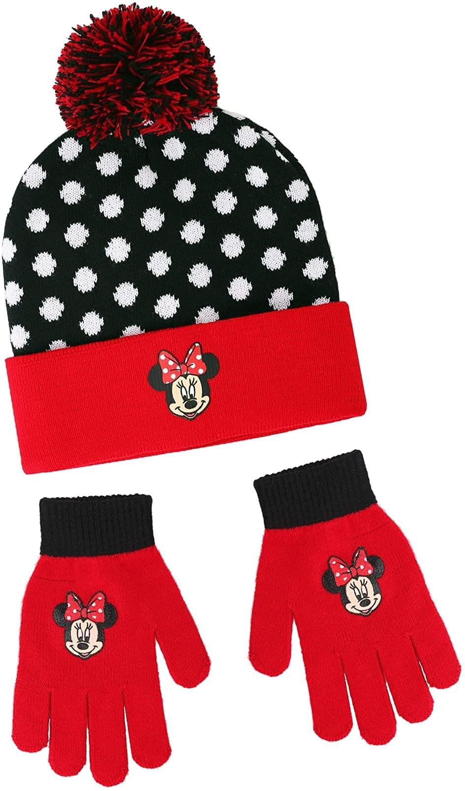 Disney Girls Minnie Mouse Winter Beanie & Glove Set