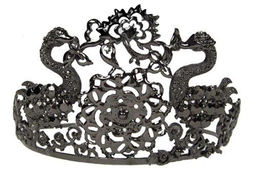 Jeweled Black Tiara Costume Crown