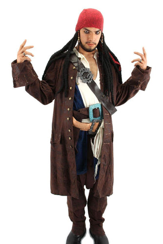 Jack Sparrow Pirates Head Scarf Dreads Costume Headpiece
