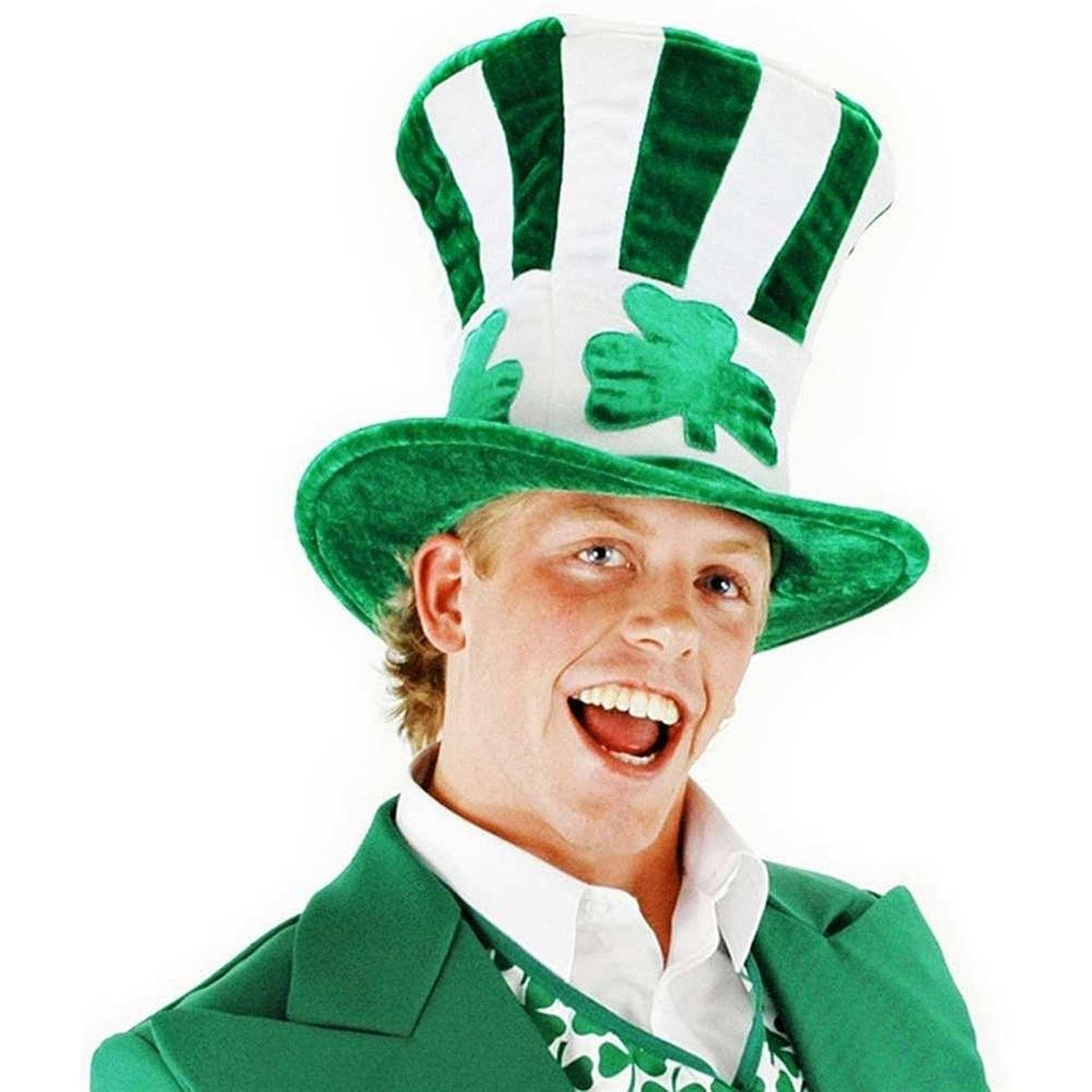 Irish Shamrock Uncle Sam Leprechaun Adult Hat Costume Accessory One Size