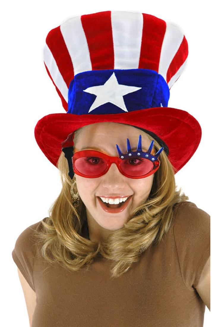 Patriotic USA Uncle Sam Adult Velvet Costume Hat