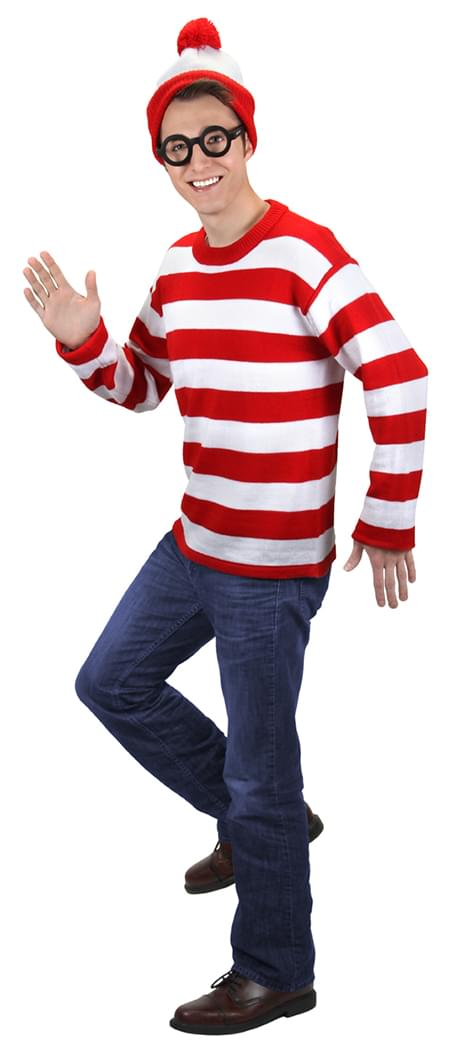 Where's Waldo Deluxe Costume Adult