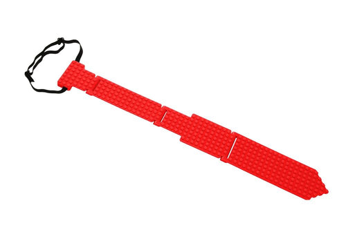 Bricky Blocks Kid and Adult Red Costume Necktie