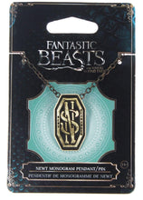 Load image into Gallery viewer, Fantastic Beasts Newt's Monogram Costume Pendant Pin with Chain