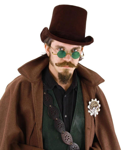 Steampunk Costume Coachman Hat Adult: Dark Brown