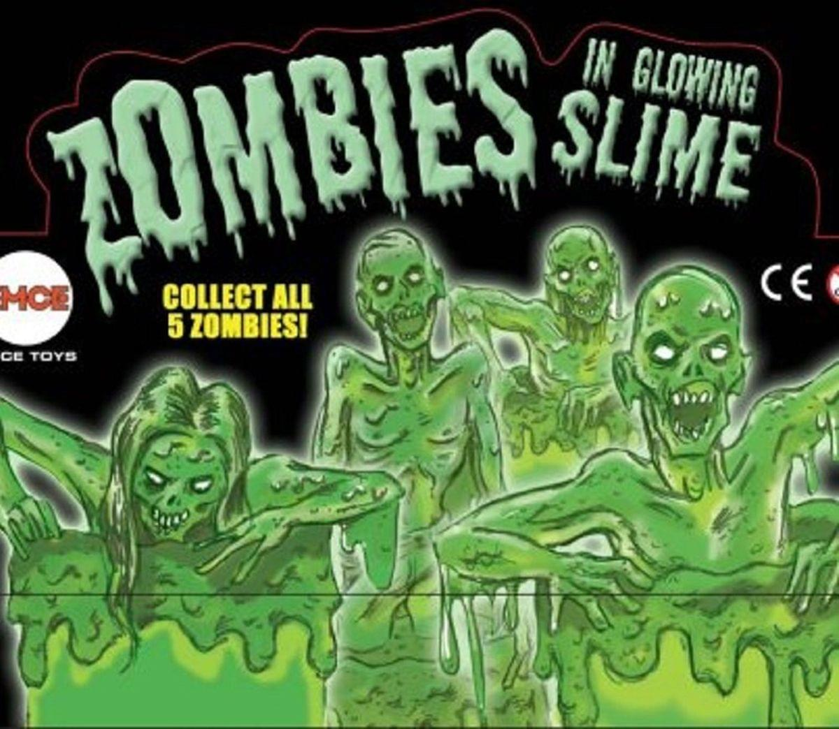 Zombie in Glow Slime and Goo Drum Mini Figure