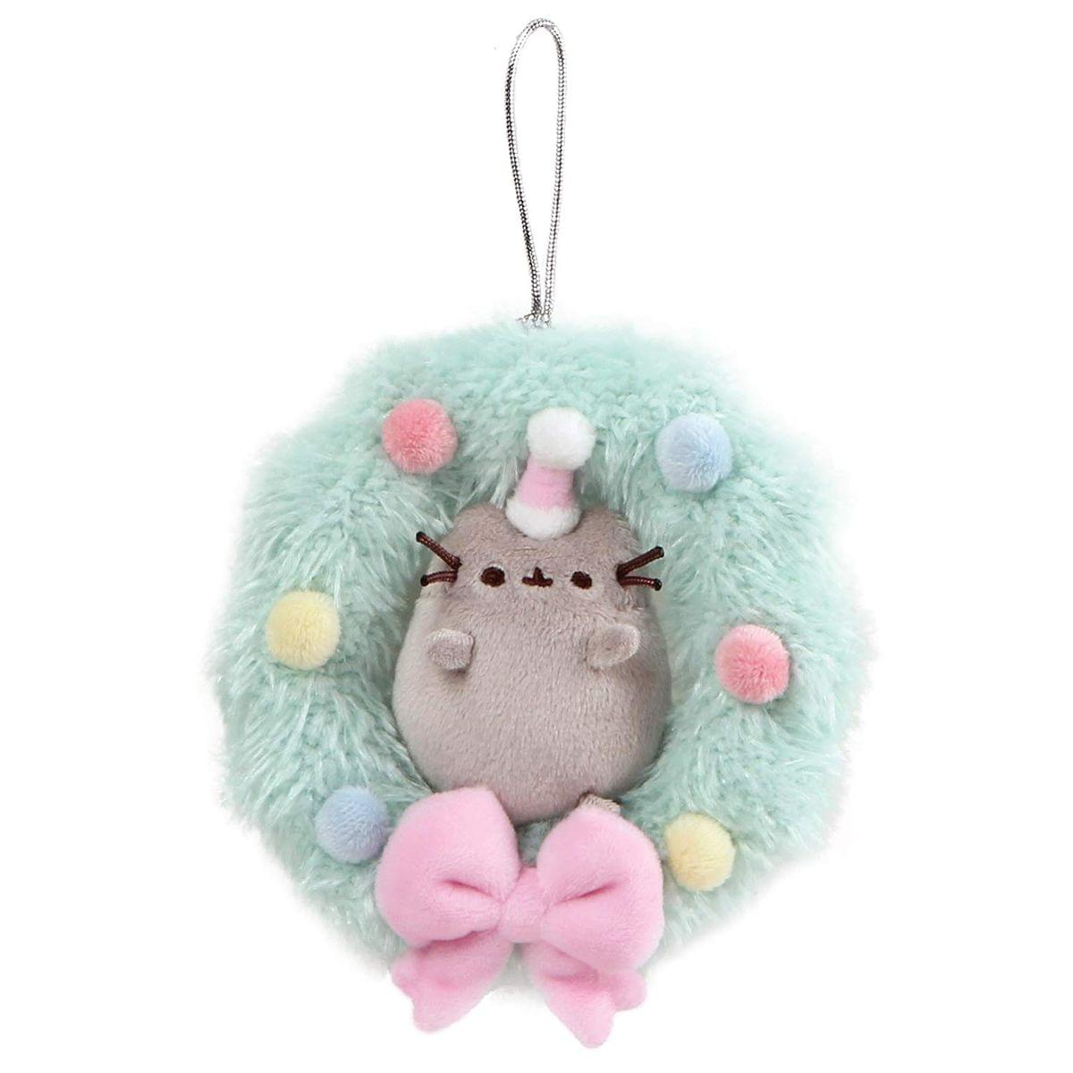 Pusheen 4.5-Inch Plush Christmas Wreath Ornament