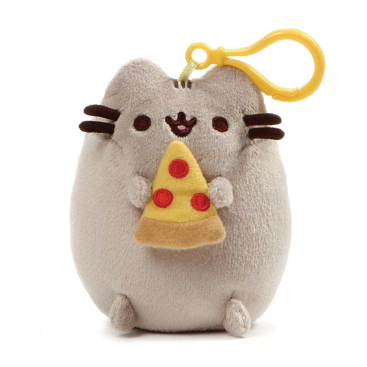 "Pusheen Snackable Pizza Slice 5"" Plush Backpack Clip"