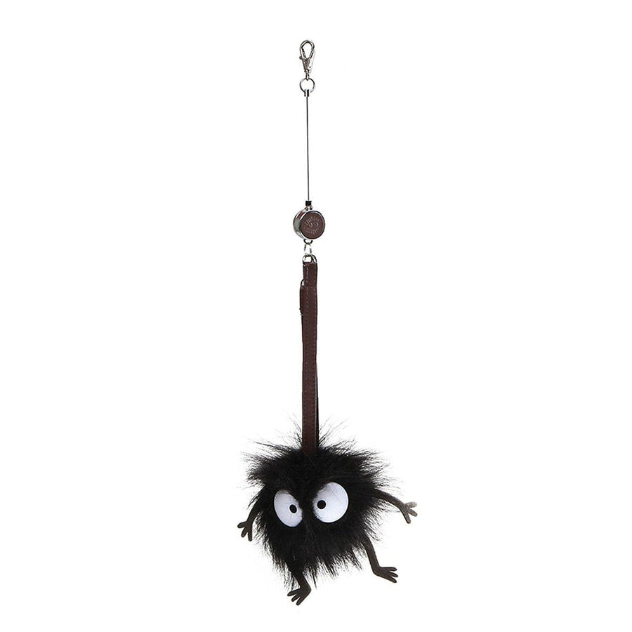 "Spirited Away Soot Sprite 3.5"" Retractable Plush Key Holder"