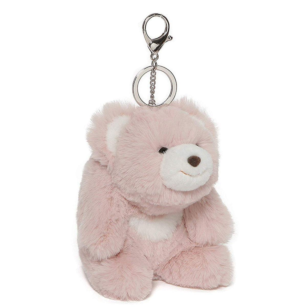 Snuffles the Teddy Bear 5-Inch Plush Keychain | Pink