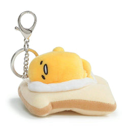 Gudetama the Lazy Egg On Toast 3.5-Inch Plush Keychain