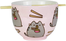 Load image into Gallery viewer, Pusheen Ramen Bowl and Chopsticks Set