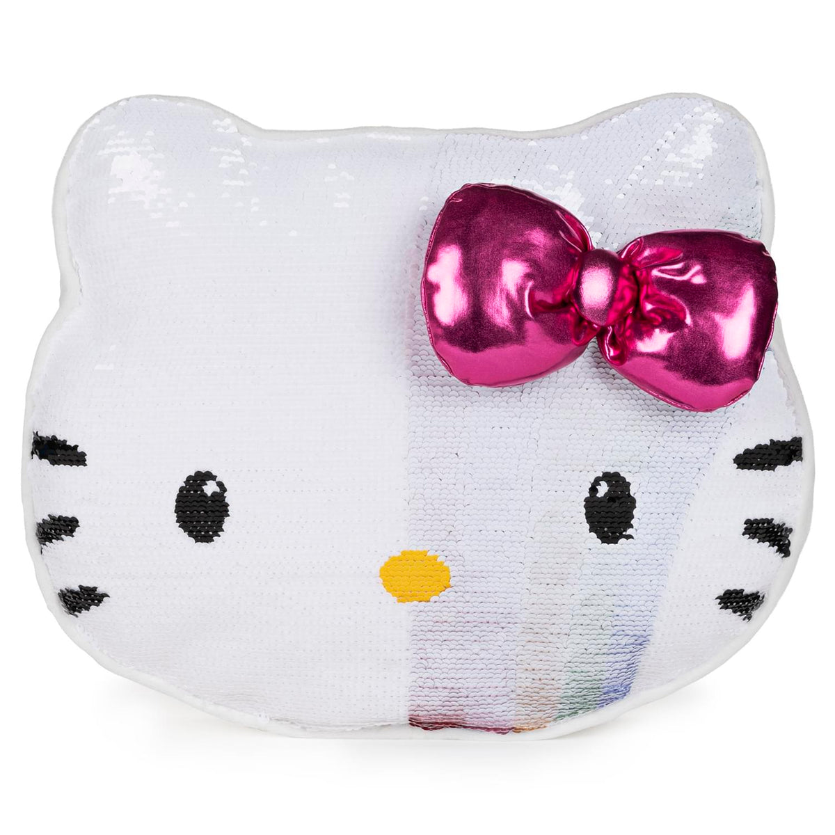 Hello Kitty 11.75 Inch Color Changing Rainbow Sequin Pillow Plush