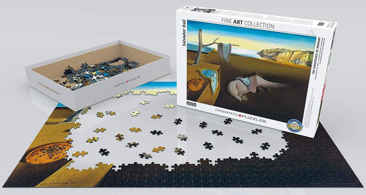 The Persistence of Memory by Salvador Dali 1000 Piece Jigsaw Puzzle
