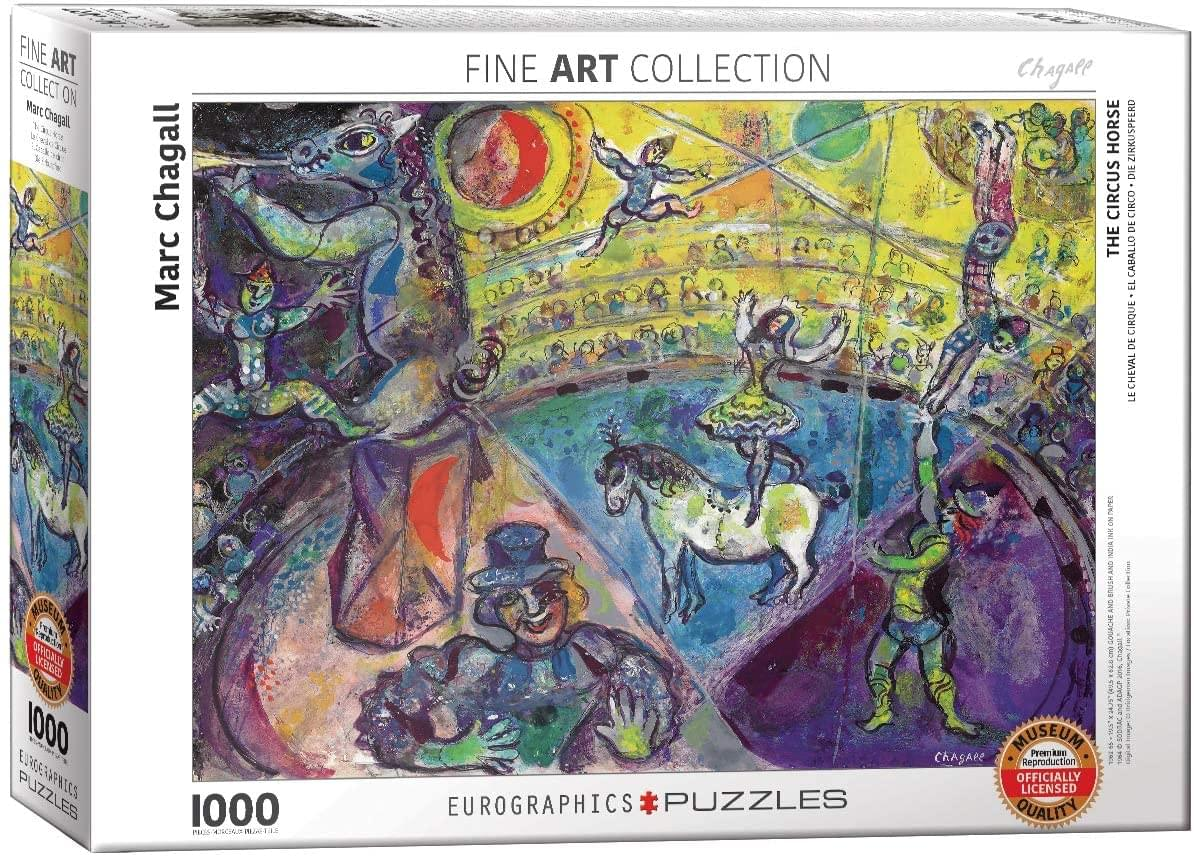 The Circus Horse by Marc Chagall 1000 Piece Jigsaw Puzzle
