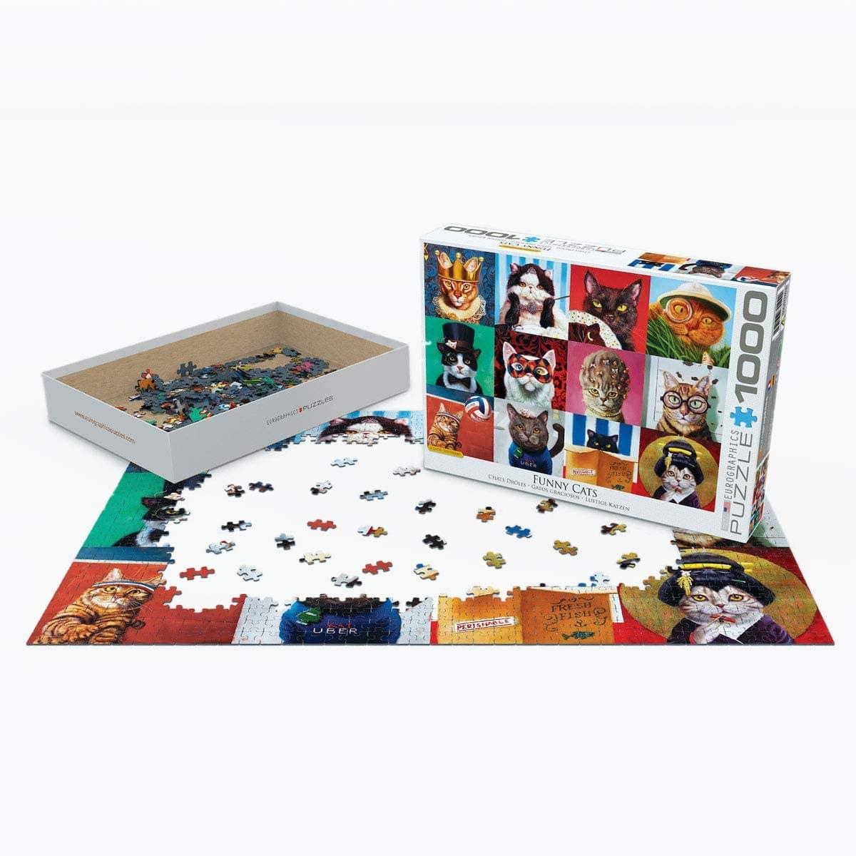 Funny Cats by Lucia Heffernan 1000 Piece Jigsaw Puzzle