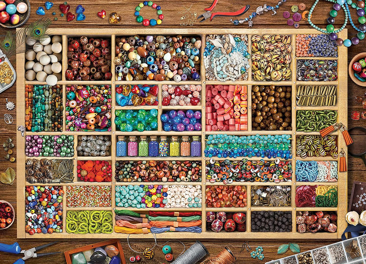 Bead Collection 1000 Piece Jigsaw Puzzle