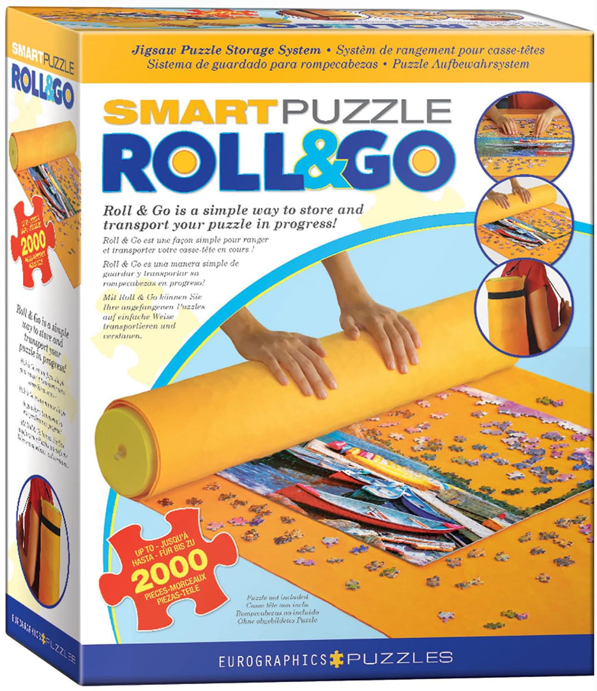 SmartPuzzle Roll & Go Jigsaw Puzzle Mat | Fits 2000 Pieces