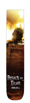 "Attack on Titan ""Colossal Attack"" Unisex Photo Real Crew Socks: 1 Pair"