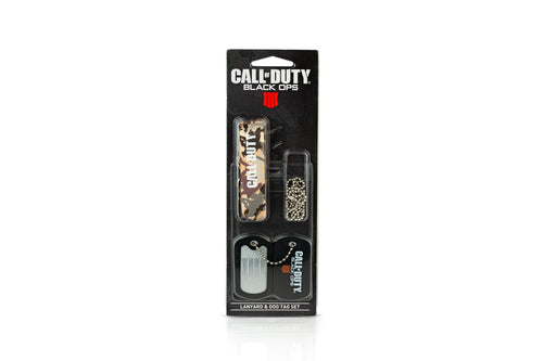 Call of Duty: Black Ops 4 Logo Lanyard & Dog Tag Chain | Unique Black Ops Gifts