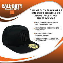 Load image into Gallery viewer, Call of Duty Black Ops 4 Embossed Shield Logo Adjustable Adult Snapback Cap