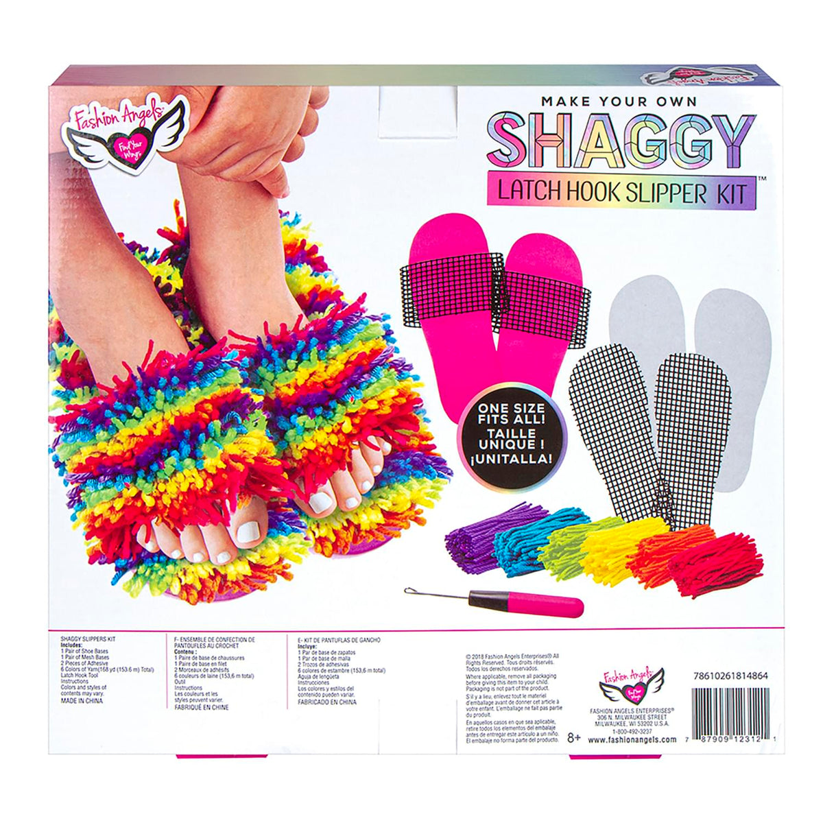 Fashion Angels Latch Hook Slipper Design Kit