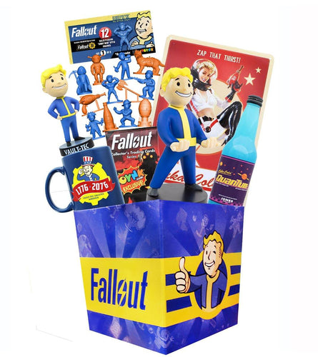 Fallout LookSee Box with Nanoforce Figures|Cable Guy|Nuka Cola by Jones Soda