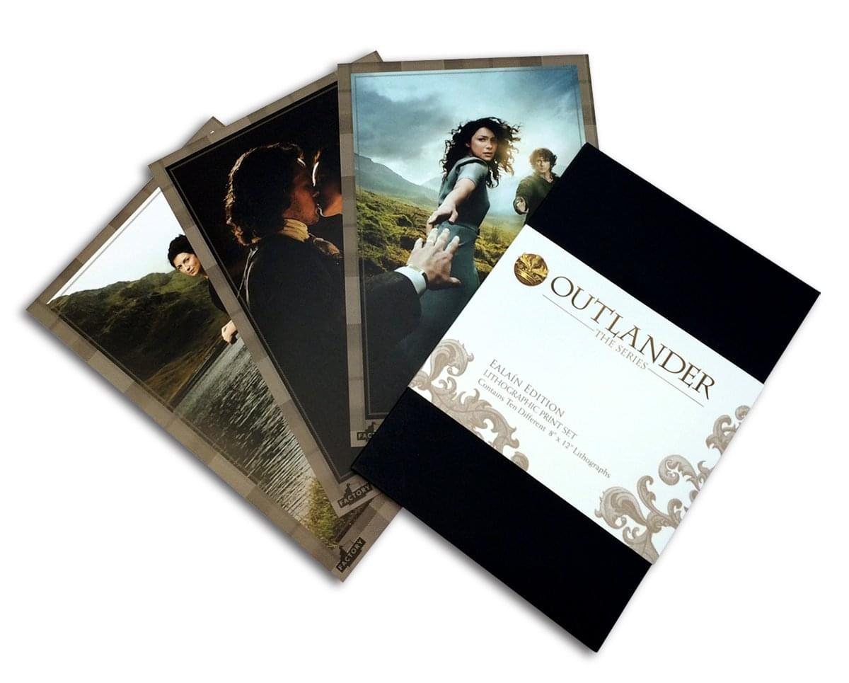 Outlander 8 x 12 Inch 10 Piece Lithographic Print Set