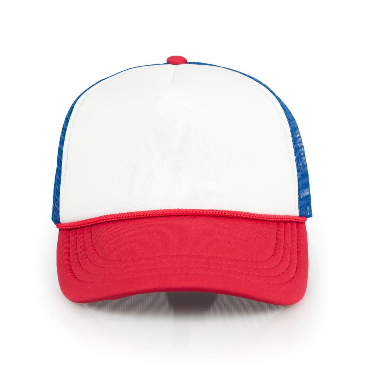 Stranger Things Mesh Red White & Blue Vintage Mesh Trucker Cap