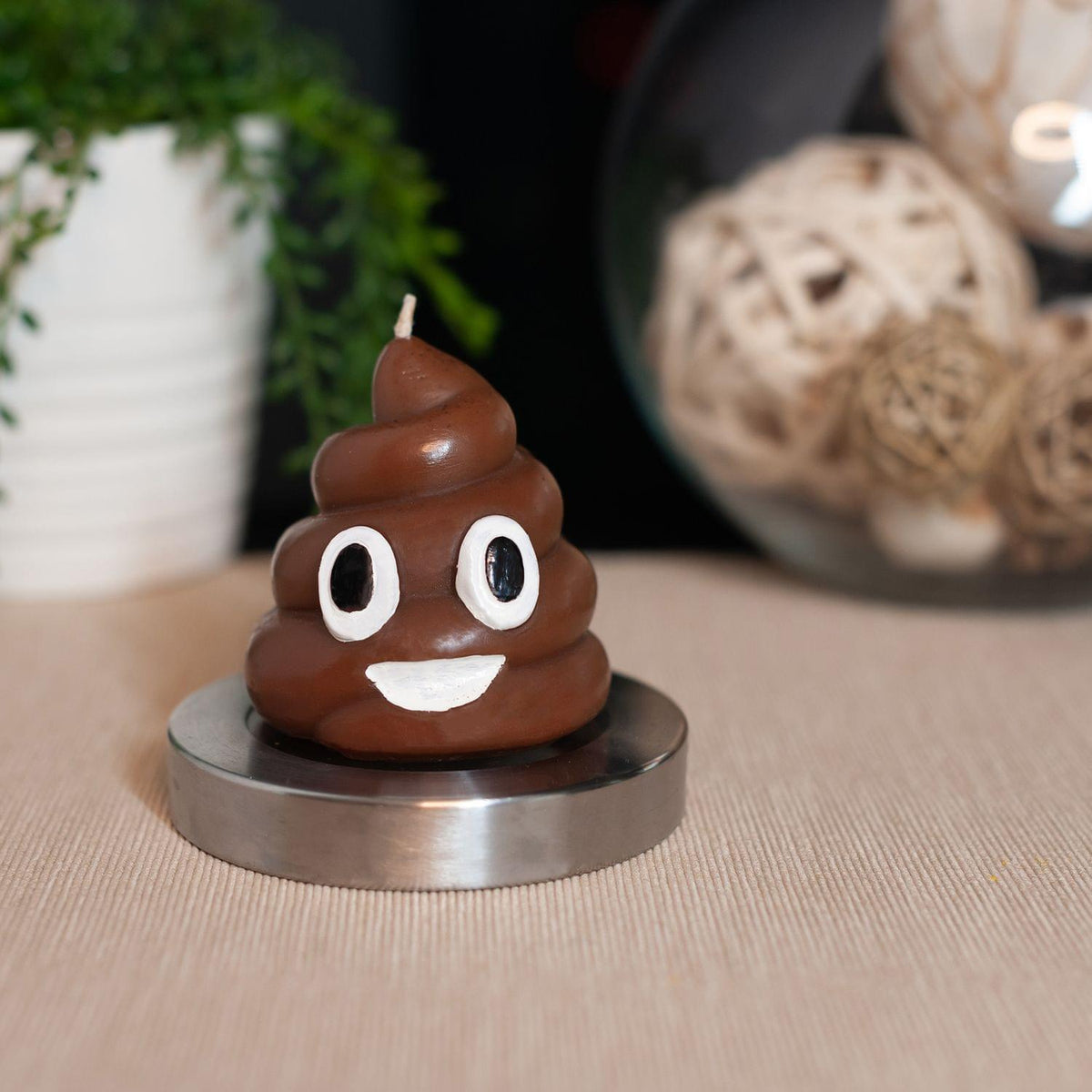 My Sh*t Doesn't Stink Poop Emoji Candle | Funny Décor Collectible