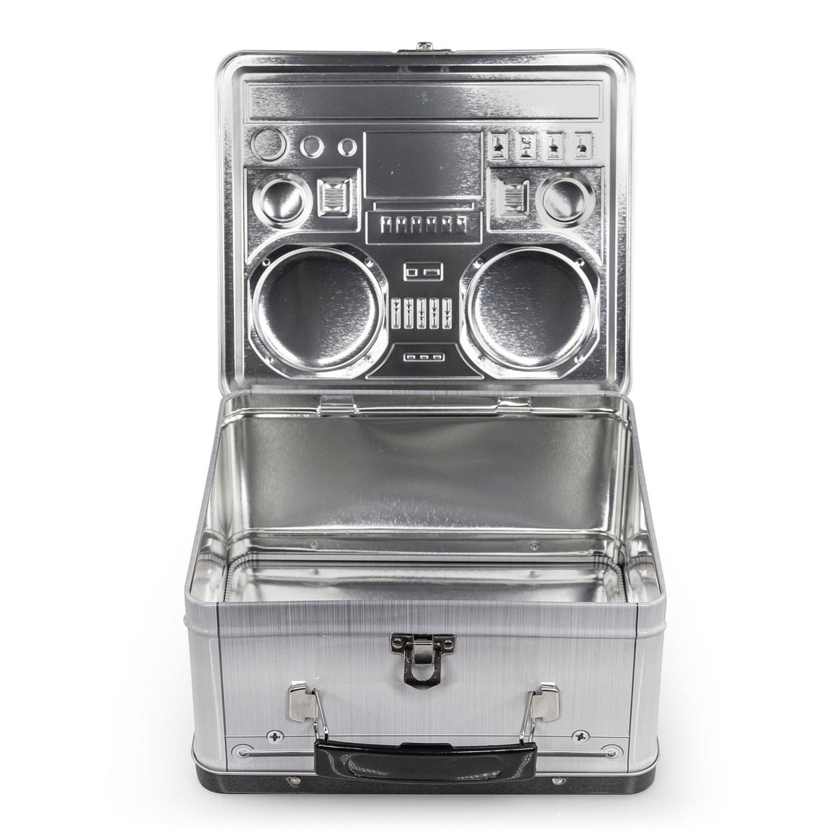 80's Boombox Radio Lunchbox Tin Tote