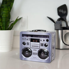Load image into Gallery viewer, 80's Boombox Radio Lunchbox Tin Tote
