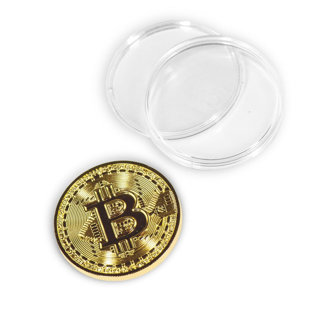 Bitcoin Collectible|Gold Plated Commemorative Blockchain Coin| Collector's Coin