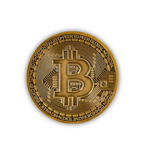 Bronze Bitcoin Commemorative Collector Physical Medallion Coin